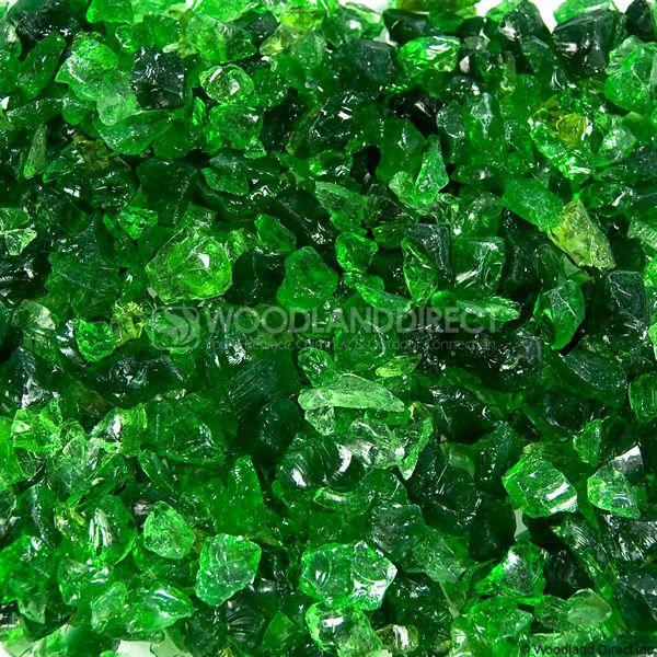 "Krystal Fire 1/4""- 1/2"" Evergreen Mix Fire Glass image number 0"