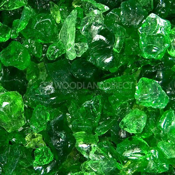 "Krystal Fire 1/4""- 1/2"" Evergreen Mix Fire Glass image number 1"