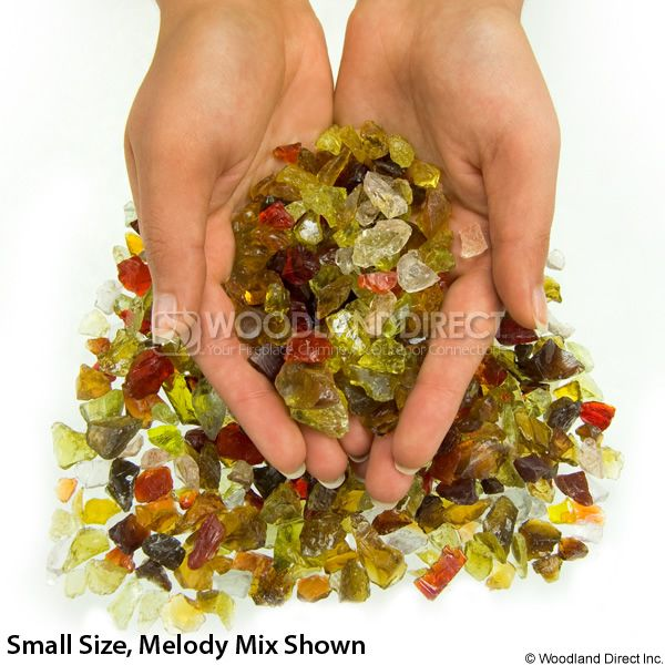 "Krystal Fire 1/4""- 1/2"" Melody Mix Fire Glass image number 2"