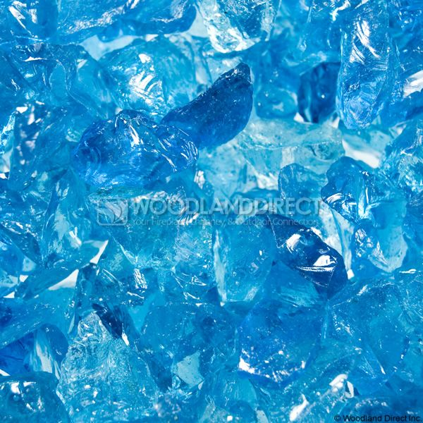 """Krystal Fire 1/4""""- 1/2"""" Turquoise Ice Fire Glass image number 1"""