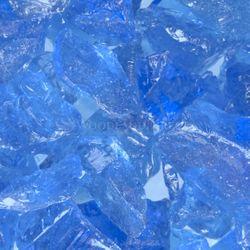 """Krystal Fire - Fire Glass - 1/2""""-1"""" Blue Ice"""