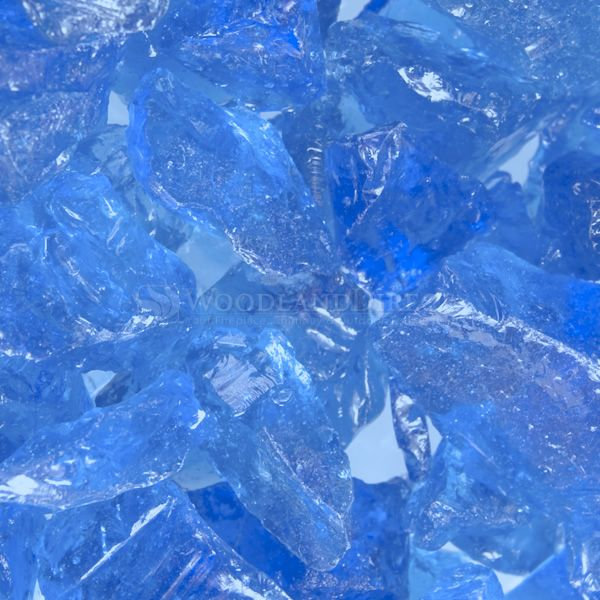 "Krystal Fire 1/2""- 1"" Blue Ice Fire Glass image number 0"