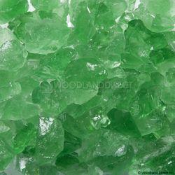"""Krystal Fire - Fire Glass - 1/2""""-1"""" Green Ice"""