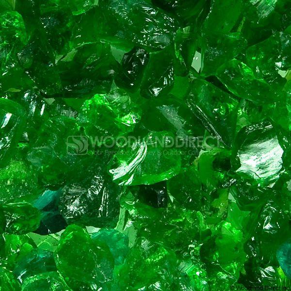 "Krystal Fire 1/2""- 1"" Evergreen Mix Fire Glass image number 1"