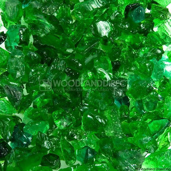 "Krystal Fire 1/2""- 1"" Evergreen Mix Fire Glass image number 0"