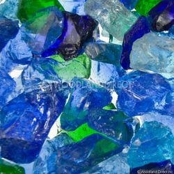 """Krystal Fire - Fire Glass - 1/2""""-1"""" Ocean Mix"""