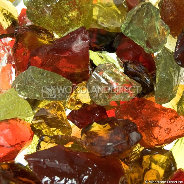 "Krystal Fire 1/2""- 1"" Melody Mix Fire Glass image number 1"