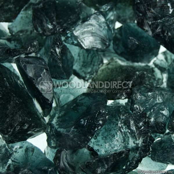 "Krystal Fire 1/2""- 1"" Smoke Fire Glass image number 1"