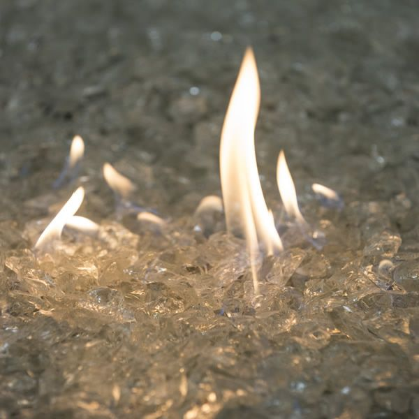 """Krystal Fire - Fire Glass - 1/2""""-1"""" Clear Ice image number 0"""