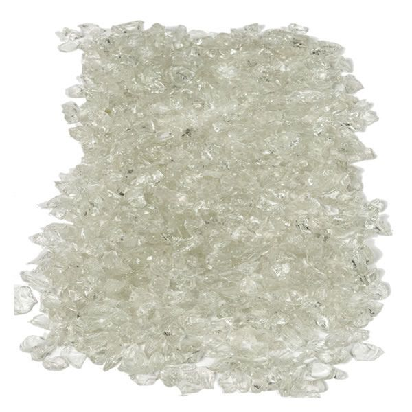 """Krystal Fire - Fire Glass - 1/2""""-1"""" Clear Ice image number 1"""