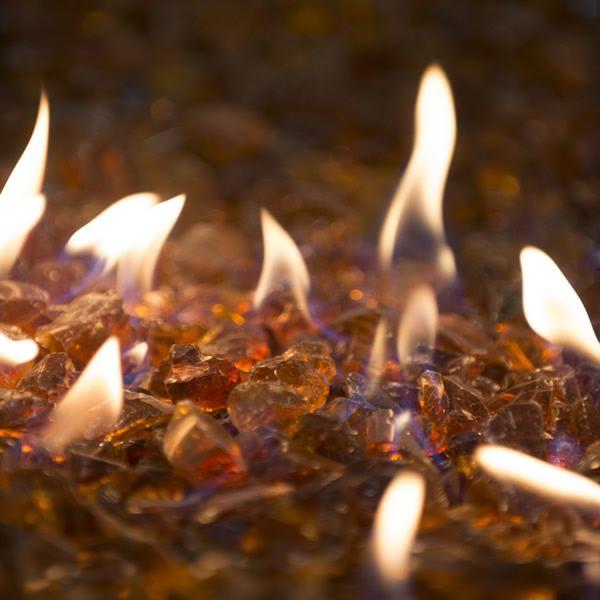 "Krystal Fire - Fire Glass - 1/2""-1"" Amber image number 0"