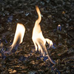 """Krystal Fire - Fire Glass - 1/2""""-1"""" Black - 10lbs"""