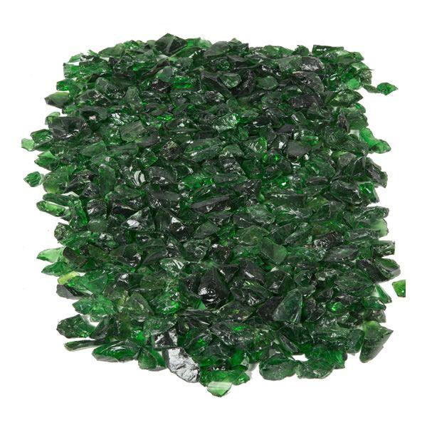 "Krystal Fire - Fire Glass - 1/2""-1"" Emerald image number 1"