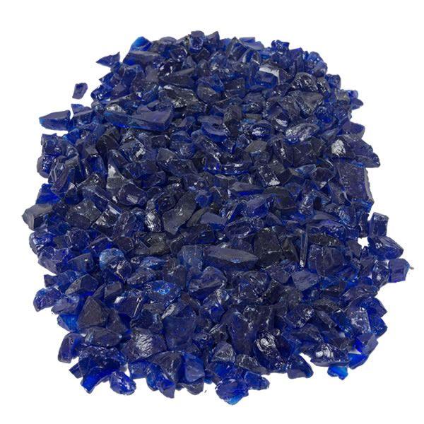 "Krystal Fire - Fire Glass - 1/2""-1"" Royal Blue image number 1"