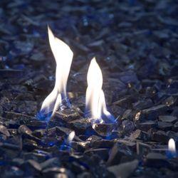 "Krystal Fire - Fire Glass - 1/2""-3/4"" Royal Blue - 10lbs"