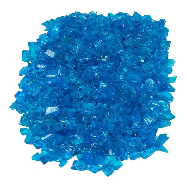"""Krystal Fire - Fire Glass - 1/2""""-1"""" Turquoise image number 1"""