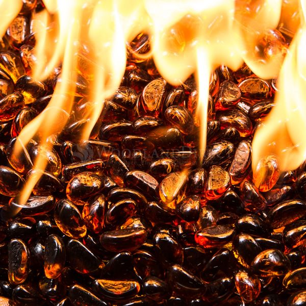 Krystal Fire Gem Amber Fire Glass - 10 lbs. image number 1