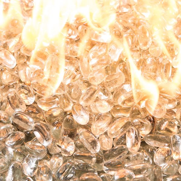Krystal Fire Gem Clear Fire Glass - 10 lbs. image number 1