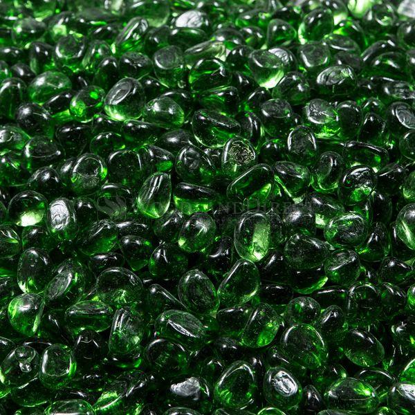 Krystal Fire Gem Green Fire Glass - 10 lbs. image number 0