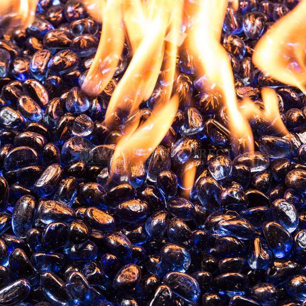 Krystal Fire Gem Royal Blue Fire Glass - 10 lbs. image number 1
