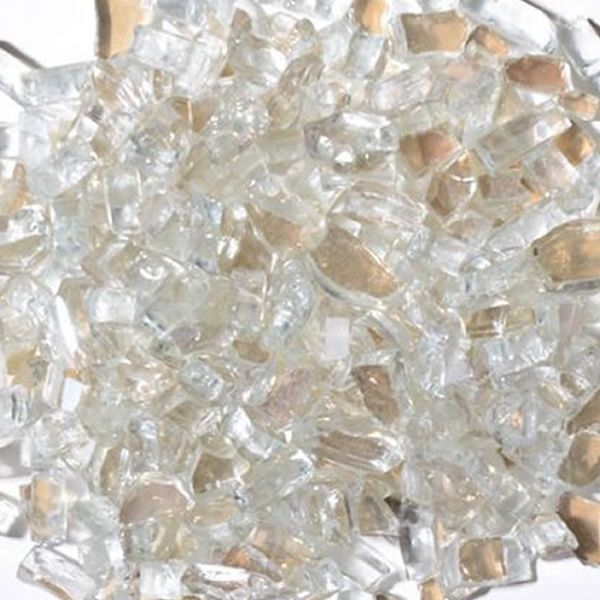 "Krystal Fire 1/4"" Reflective Clear Fire Glass - 10 lbs. image number 0"