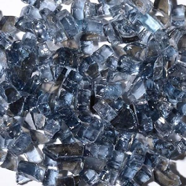 """Krystal Fire 1/4"""" Reflective Gray Fire Glass - 10 lbs. image number 0"""