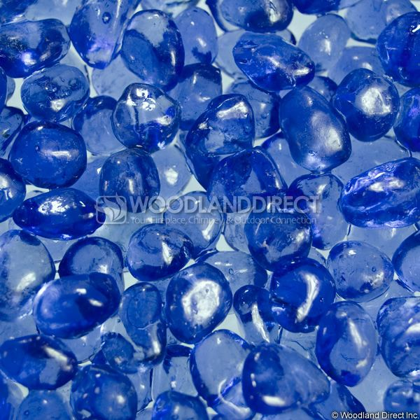 "Krystal Fire 1/2"" Smooth Blue Ice Fire Glass image number 0"