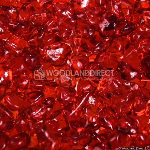 "Krystal Fire 1/2"" Smooth Cherry Fire Glass image number 1"
