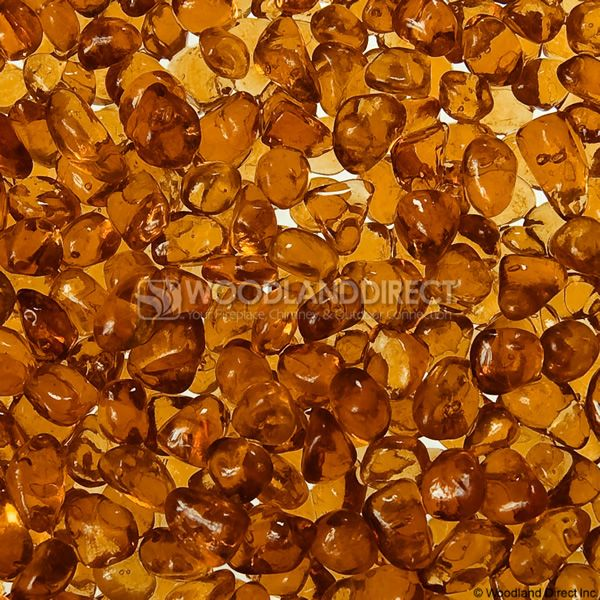 """Krystal Fire 1/4"""" Smooth Apricot Fire Glass image number 0"""