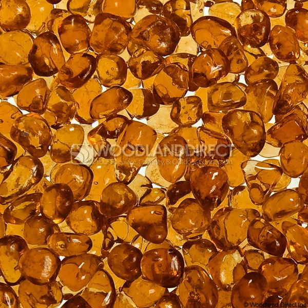 """Krystal Fire 1/4"""" Smooth Apricot Fire Glass image number 1"""