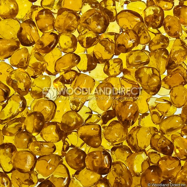 "Krystal Fire 1/4"" Smooth Golden Fire Glass image number 1"