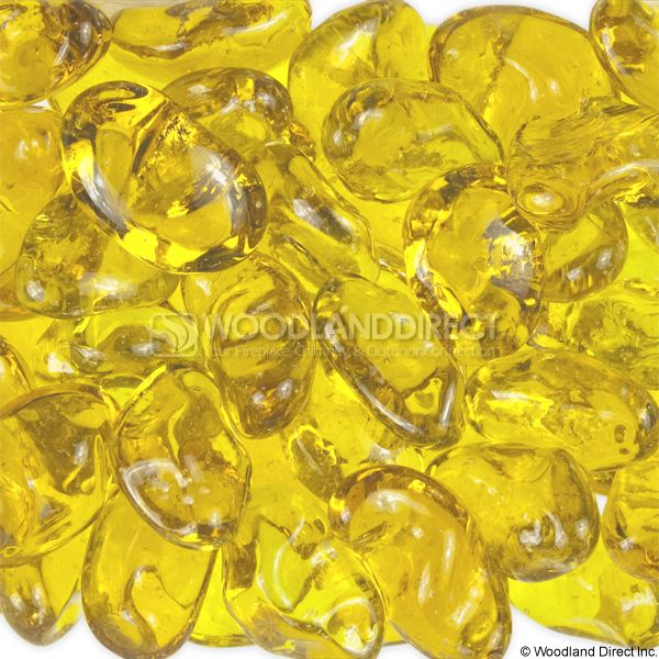 "Krystal Fire 1"" Smooth Golden Fire Glass image number 0"