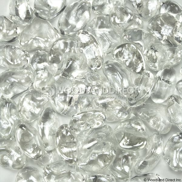 "Krystal Fire 1"" Smooth Iridescent Ice Fire Glass image number 0"