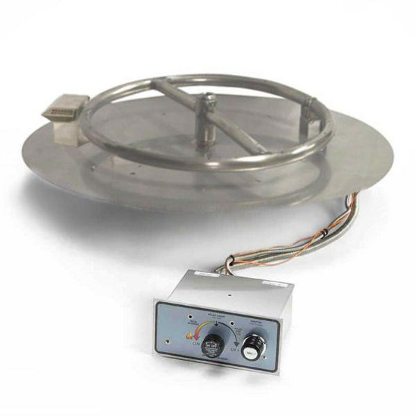"HPC Match Lit Round Flat Fire Pit Insert - 8"" image number 0"