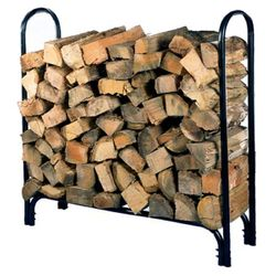 HY-C Black Firewood Rack