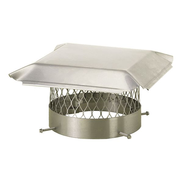 HY-C Draft King Stainless Steel Round Chimney Cap image number 0