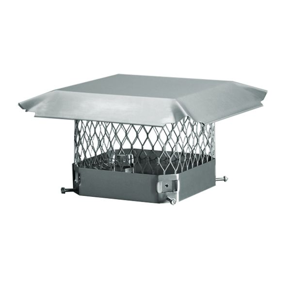 HY-C Draft King Stainless Steel Square Chimney Cap image number 0