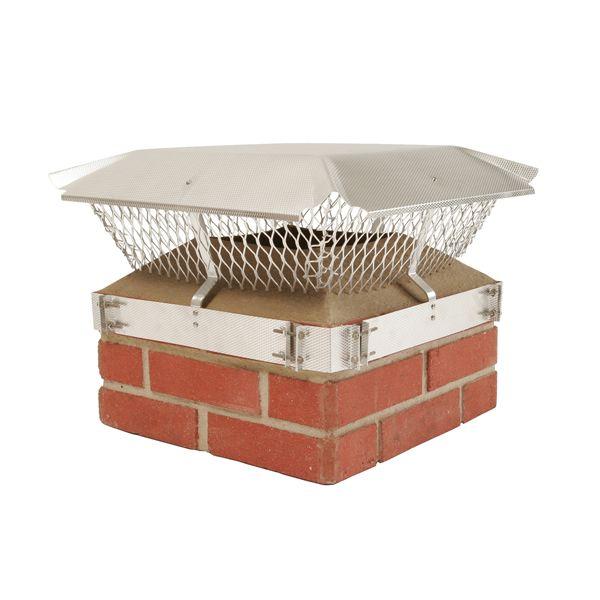 HY-C Duro-Shield Outside Brick Aluminum Chimney Cap image number 0