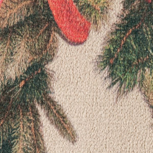 Hearthside Holiday Printed Nylon Half Round Rug image number 1