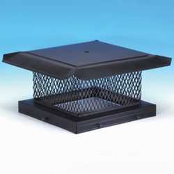 "HomeSaver Black 5/8"" Mesh Chimney Cap"