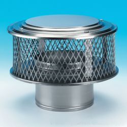 "HomeSaver Guardian 304 Stainless Steel (5/8"" Mesh) Chimney Cap"