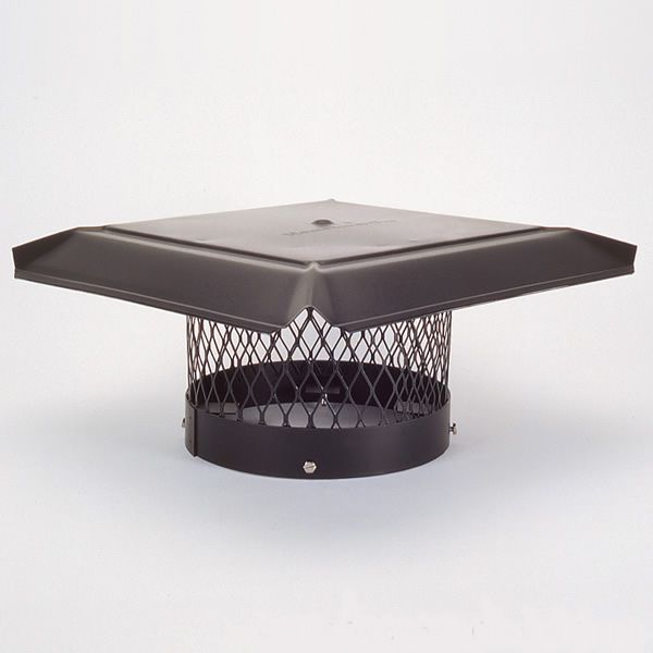HomeSaver Pro Black Galvanized Round Chimney Cap image number 0
