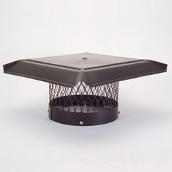 HomeSaver Pro Black Galvanized Round Chimney Cap