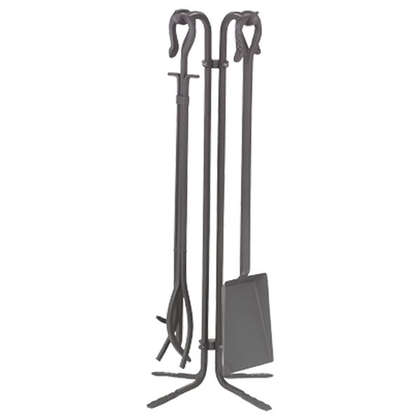 Hooked Wrought Iron 4 Piece Tool Set - Natural image number 0