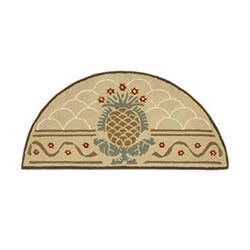 "Hospitality 56""x26"" Half-Round Fireplace Hearth Rug"