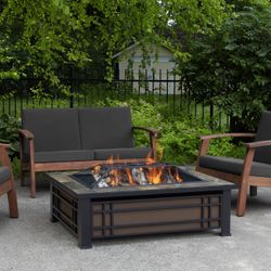 Real Flame Hamilton Wood Burning Fire Pit