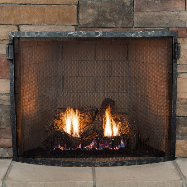 Heritage Hammered Bowed Fireplace Screen image number 1