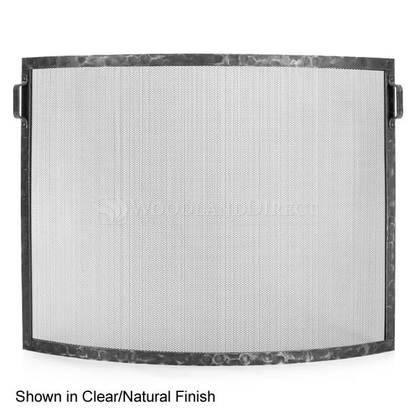Hammered Bowed Fireplace Screen image number 0