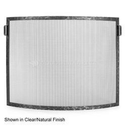 Hammered Bowed Fireplace Screen