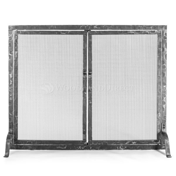 Hammered Fireplace Screen with Doors image number 0